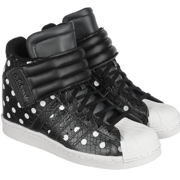 ced5f37ee8c NWT ADIDAS Superstar Leather Sneaker Hidden Wedge